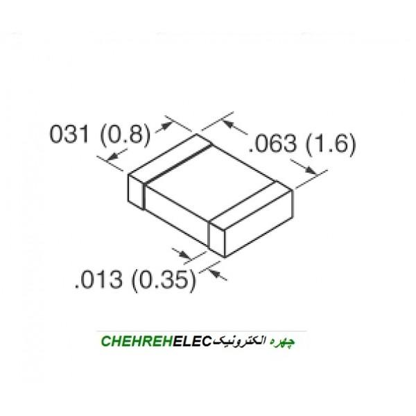 خازن 100NF نانو فاراد SMD-603
