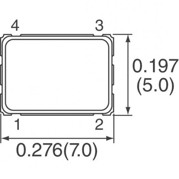 اسیلاتور (11.592MHZ -SMD (5*7M