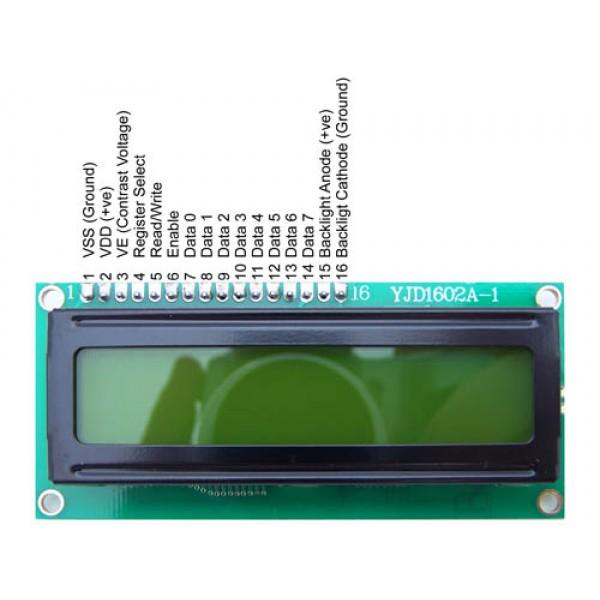 LCD کاراکتری 2*16 بک لایت آبی-TS1620A+اصلی