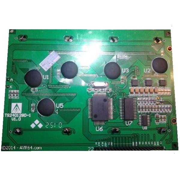 LCD گرافیکی 240*128 بک لایت ابی  TS240128D-1  (اصلی)