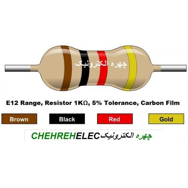 مقاومت 1K کيلواهم (1/4W-%5)